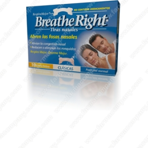 Tiras Nasales Breathe Right 30 PequeÑas