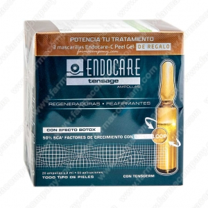 Endocare Tensage Ampollas Pack Especial 2 Meses 20 Ampollas x 2 Ml+REGALO 3 mascarillas C Peel