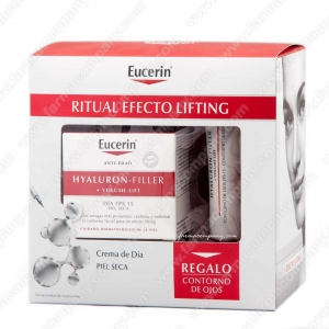 Eucerin Hyaluron Filler Volume Lift Crema De Dia Piel Seca 50 Ml + REGALO Contorno de Ojos Hialuron Filler Volume Lift 15ml