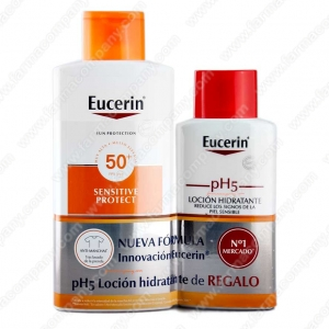 Eucerin Sun Loción Extra Light Spf 50 400 Ml + Regalo pH5 Locion 200ml