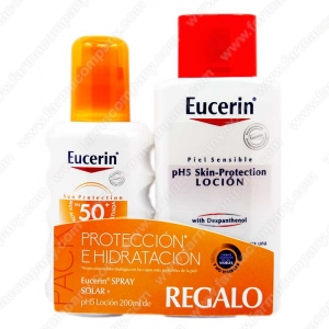 Eucerin Sun Spf 50 Spray 200 Ml + REGALO pH5 Locion 200ml