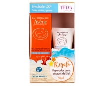 Avene Solar Pack Emulsion Oil Free Spf50+ Regalo Avene After Sun 50 Ml