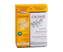 Caudalie Coffret Sérum Vinoperfect 30 ml+ REGALO Soleil Divine Spf50 25 ml pack BRONCEADO PERFECTO