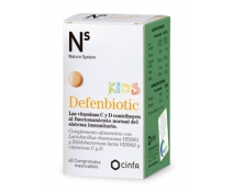 Ns Defenbiotic Kids 60 Comprimidos Masticables Nature System