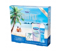 Durex Summer Pack. Durex Invisible 12un+Durex play Gel+Condonera