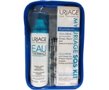 Uiage My S.O.S kit De Viaje Agua Thermal 50 ml + Bariederm Cica-Cream 40 Ml + 15 Tiritas Cica Uriage