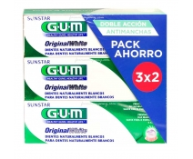 Gum Original White Pasta Pack 3x75ml 3X2