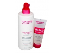Topicrem Leche Corporal Ultra-Hidratante 24 H 500 Ml + REGALO Gel Limpiador Suave 75 Ml