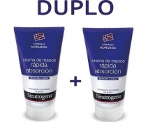Neutrogena Crema De Manos Rapida Absorcion Duplo 2X75 Ml