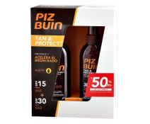 PIZ BUIN PACK Tan & Protect aceite corporal SPF 15 y SPF 30 spray 150 ml