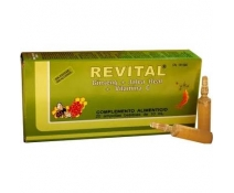Revital Ginseng+jalea Real+vitaminas 20 Ampollas