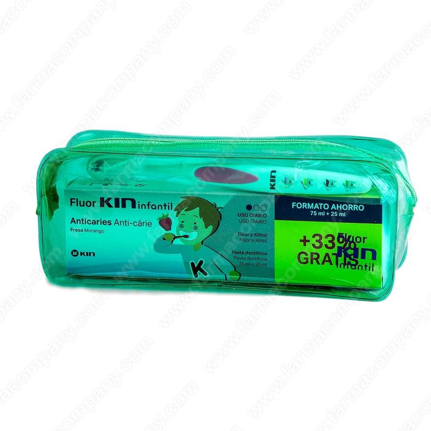 Kin Infantil Neceser pasta fresa 75ml+25ml + cepillo dental 1 b4a924df2782